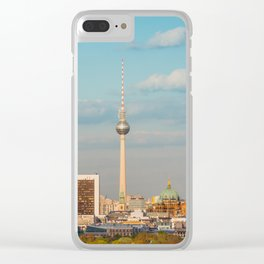 Berlin City Skyline - Cityscape and Tv Tower in Berlin, Germany Clear iPhone Case