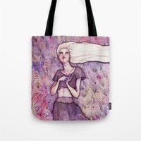 daenerys Tote Bags featuring Waiting by Verismaya