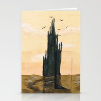 dark tower Stationery Cards featuring The tower by ArT RefugiuM