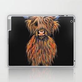 Scottish Highland Cow ' NED ' by Shirley MacArthur Laptop & iPad Skin