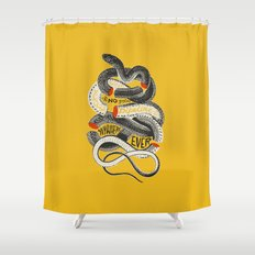 No. Never. Nowhere. Shower Curtain