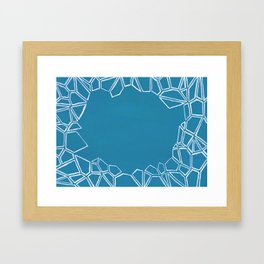 Fractal Glacier Negative Space Framed Art Print