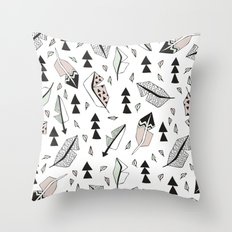 Cupid indian summer feathers and arrows Throw Pillow