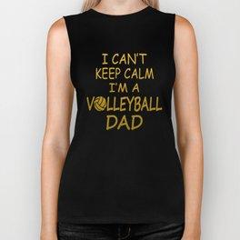I'M A VOLLEYBALL DAD Biker Tank