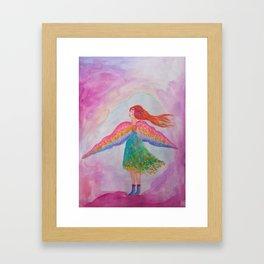 Rainbow Wings Framed Art Print
