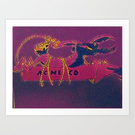 Stained Glass Coyote Art Print