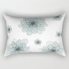 Watercolor Succulents Rectangular Pillow