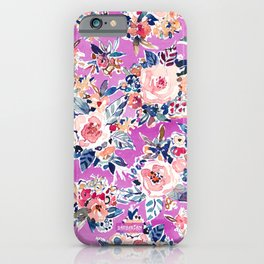 ROMANTIC AF Colorful Wild Floral iPhone Case