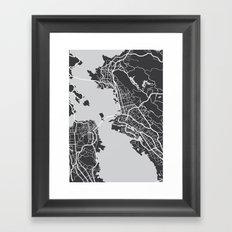 City map graphic Framed Art Print