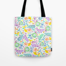 Whale Watching on Green Tote Bag