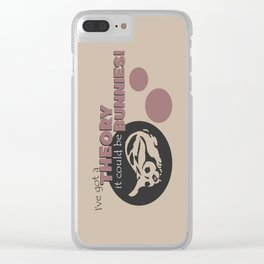 Bunny Fear Clear iPhone Case