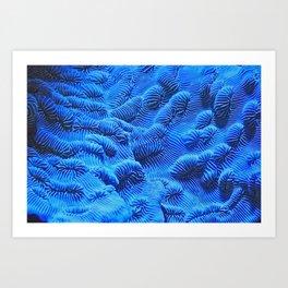 Bioluminescent corals Art Print