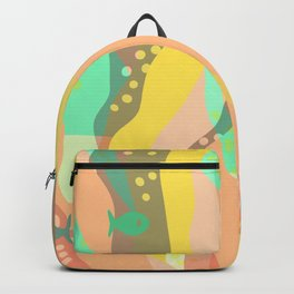 Life at the bottom of the ocean, abstract wild underwater print Backpack