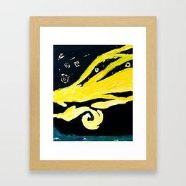Night Sky Over The Great Ocean Road Framed Art Print