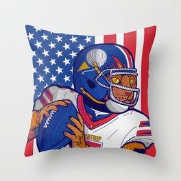 USA Sport Cat Throw Pillow