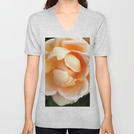 Orange Cream Rose Unisex V-Neck