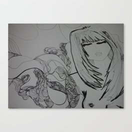 TheGirl with the tattoo Canvas Print