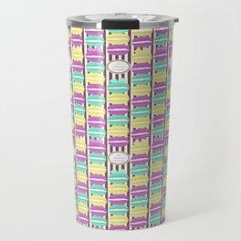 Macaron Stripes in Brown Travel Mug