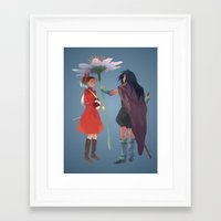 calcifer Framed Art Prints featuring The Secret World by CromMorc