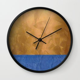 Copper Metallic With Tuscan Blue Stripe Trim - Corbin Henry Wall Clock