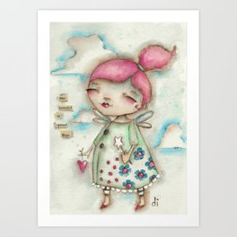 A Hope-Spreading Fairy Art Print