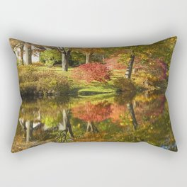 Asticou Azelea Garden in Fall Mount Desert Island Maine Rectangular Pillow