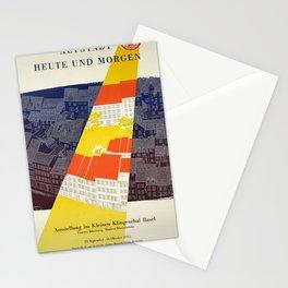 Plakat altstadt heute und morgen basel Stationery Cards
