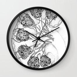 Anatomy Series: Kidney Renal Flowers Wall Clock