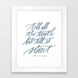 Emily Dickinson (Calligraphy) Framed Art Print