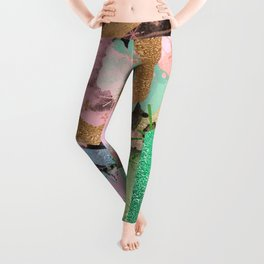 fun with collage and colors Leggings