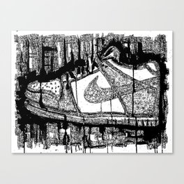 Dunk Low Ink Canvas Print