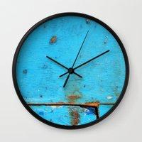 card Wall Clocks featuring Segments by David Bastidas