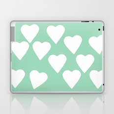 Mint Hearts Laptop & iPad Skin