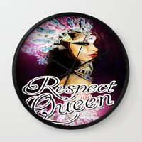aaliyah Wall Clocks featuring Queen of the Damned by RespecttheQueenDecor