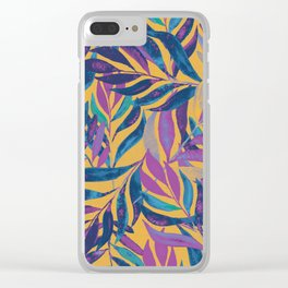 lost in vibrant autumn leaves Clear iPhone Case