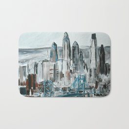 Philadelphia, Pennsylvania, USA Fine Art Acrylic Painting Bath Mat