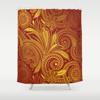 fancy Shower Curtains featuring Fancy by Ale Ibanez