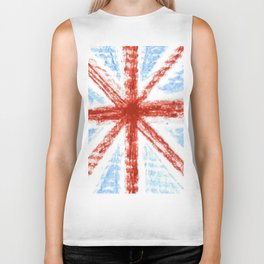 Flag of UK 11- London,united kingdom,england,english,british,great britain,Glasgow,scotland,wales Biker Tank