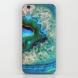 Green Turquoise Quartz Crystal iPhone Skin