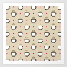 Coffee Pattern - Icon Prints: Drinks Series Art Print