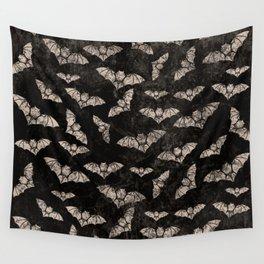 Vintage Halloween Bat pattern Wall Tapestry