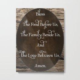 Table Blessing; Prayer Metal Print