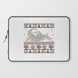 Swimming Christmas Laptop Sleeve