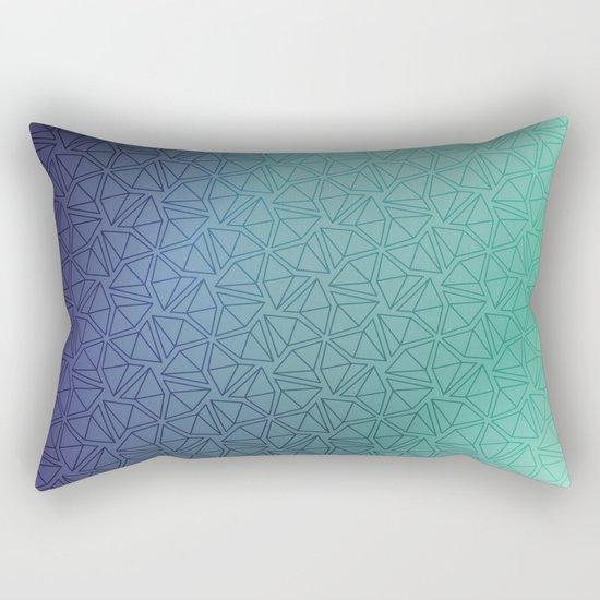 Gradient Web Rectangular Pillow
