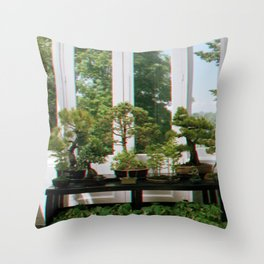 Bonsai Window Throw Pillow