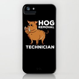 Boar Hunt T-Shirt I forest hunter gift iPhone Case