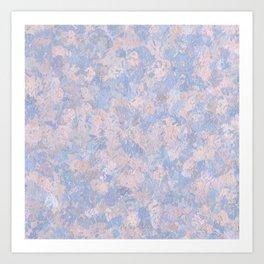 Rose Quartz and Serenity Blue 4644 Art Print