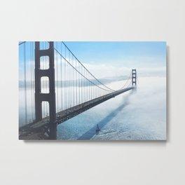 Golden Gate Bridge in the Clouds Metal Print