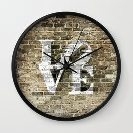 LOVE - PHILLY STYLE Wall Clock