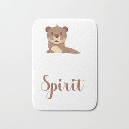 Otter soul mate animal Funny Spirit Gift Bath Mat